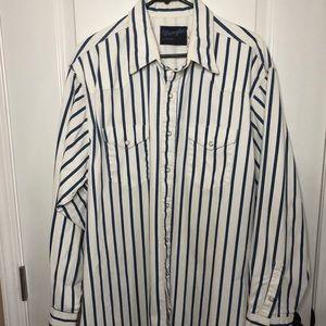 Vintage Wrangler Stripe Shacket shirt